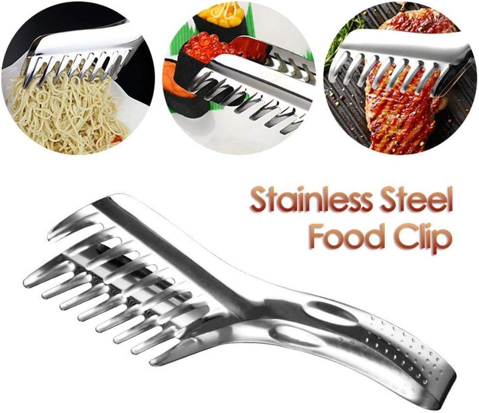 Changlesu Spaghetti Zange Nudeln Pasta Clip Kunststoff Grill Tong Kamm Geformte Buffet BBQ Clips Hitzebest/ändige K/üche Kochen Werkzeuge
