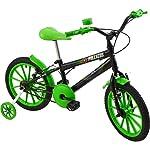 Bicicleta Infantil Aro 16 Polikids Preta Polimet Meninos Preto Outro (especifique na descrição do produto)