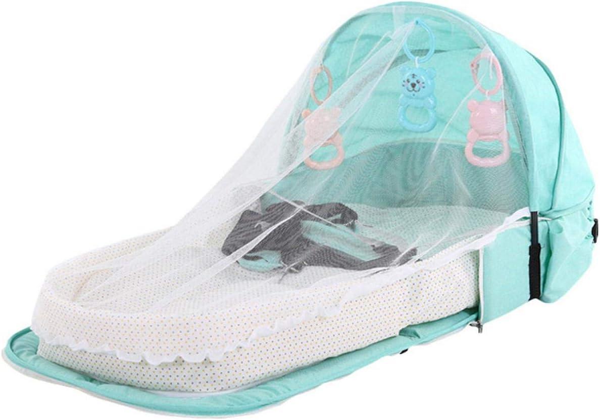 Eileen Ford Instalación fácil |Mosquitera de Viaje para Cama de bebé con mosquitero portátil con Canastilla Plegable para Dormir para bebés -PJ057D-
