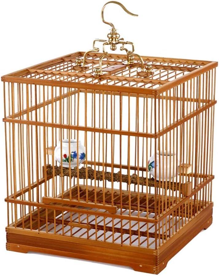 Cama Impermeable Para Mascotas Bambú antiguo hecho a mano boutique plaza jaula de pájaros bordado ojos amarillo 鹂 perla pájaro acacia jaula de pájaros vivir parte inferior Suministros De Mascotas