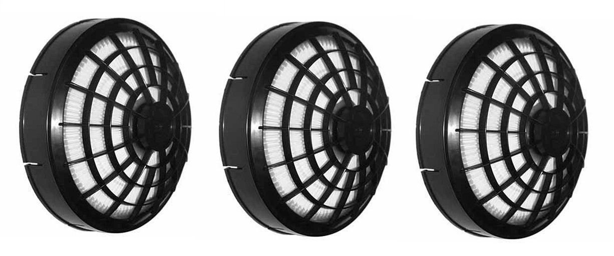 Ximoon (3 Backpack Vacuums Hepa Dome Filter for Tristar,Compact, ProTeam Oreck,Bissell,Sandia,etc