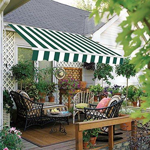 Toldo retráctil manualmente Green Bay, de 2 x 1, 5 m, para jardín o patio, en 8 colores: Amazon.es: Jardín