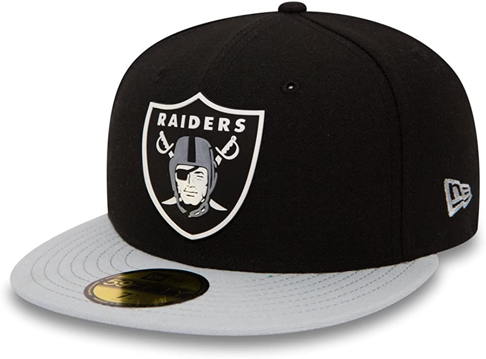 New Era Mujeres Gorras / Gorra plana Team Rubber Oakland Raiders ...