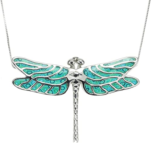 Amazon Com 925 Sterling Silver Dragonfly Necklace Pendant