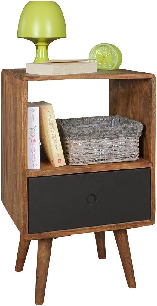 Home Collection24 Retro Noche Consola Repa/Sheesham Mesa de Noche ...