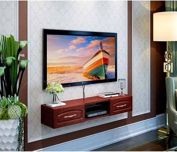 QYJ-Floating shelf Estantes flotantes Montado En La Pared Decodificador De TV Estante Estante De Reparto De Televisión Dormitorio Gabinete Gabinete Colgando Simple Europea De Pared For TV Simple: Amazon.es: Hogar