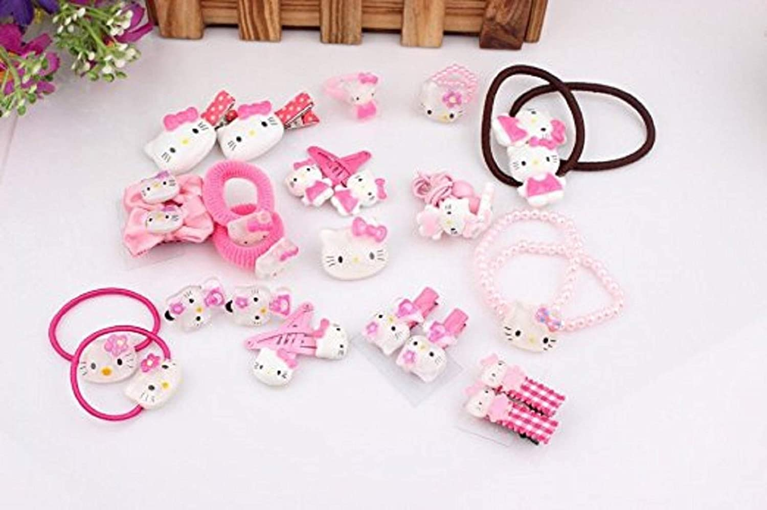 67a808bf3 Amazon.com: NiceGo Pink Hair Bows Clips for Girls – Hello Kitty Ribbon  Boutique Kids Hair Accessories For Babies Teens Kids Toddlers & Newborn -  Hairpin Bow ...