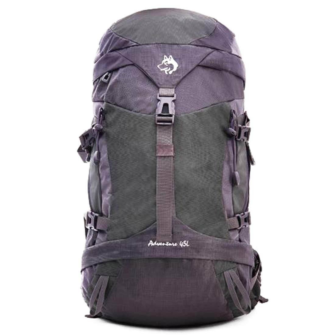 CAFUTY 登山用バックパックウォーキングによるアウトドアスポーツに最適な防水性と耐久性のある野生のキャンプ旅行中立的な男性と女性の多機能ショルダー (Color : グレー)  グレー B07QHDDRY8