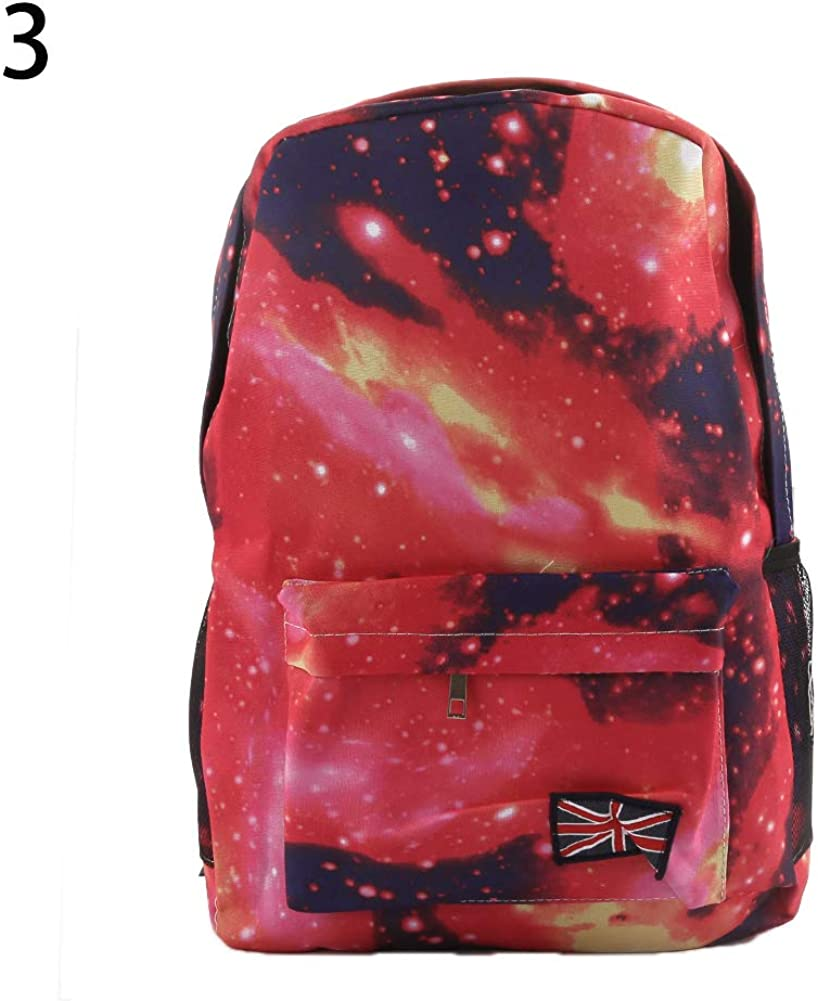 856store Casual Unisex Galaxy Space Backpack Travel Rucksack Canvas Book Storage School Bag Black