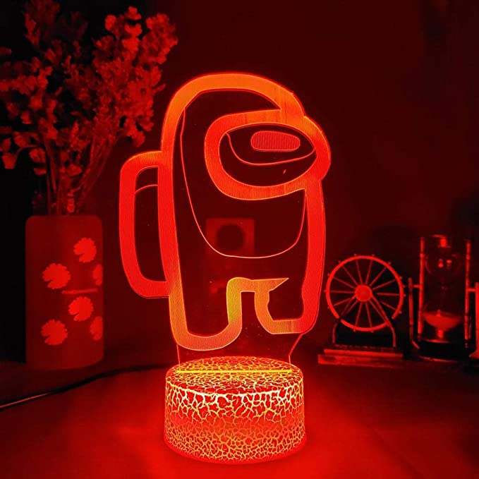 The Among Us Game 3D Night Light 7 Color LED Desk Table Lamp Fun Xmas Gift New