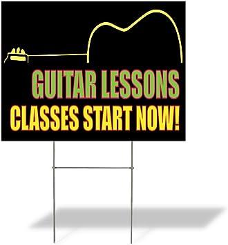 Amazon.com: Cartel de destino clases de guitarra lecciones ...
