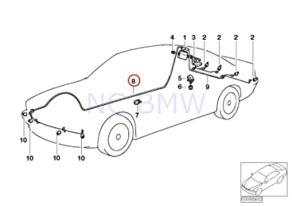 Amazon Com Bmw Genuine Pdc Front Retrofit Cable Set Automotive