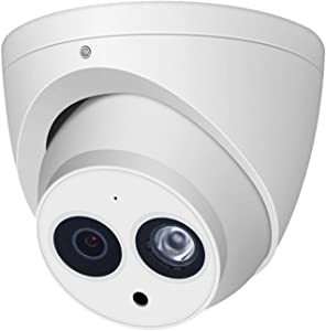 6MP Dome PoE IP Security Camera IPC-HDW4631C-A 2.8mm Lens,6 Megapixels Super HD Outdoor Indoor Home Video Surveillance Poe Camera with Audio,IR 30m Day and Night,ONVIF,IP67 Waterproof