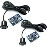 N / A 2pcs JSN-SR04T Integrated Ultrasonic Module Distance Measuring Transducer Sensor Waterproof Compatible with Arduino Ras