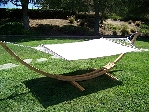 Petra Leisure 14 Ft. Natural Wooden Arc Hammock Stand + Q...