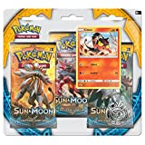 Pokemon TCG Sun & Moon Three-Booster Blister with Litten Promo Card