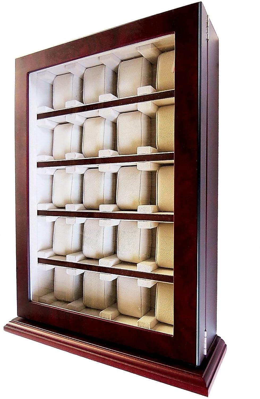 HÖchste QualitÄt zur Zufriedenheit unserer Kunden Uhrenbox von Woolux fÜr 20 Uhren Holz Sichtfenster Echtglas f