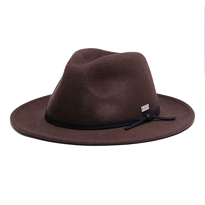576785eba1983 Original Chuck by Mark McNairy Men s Fedora Wool Hat L XL Dark Brown ...
