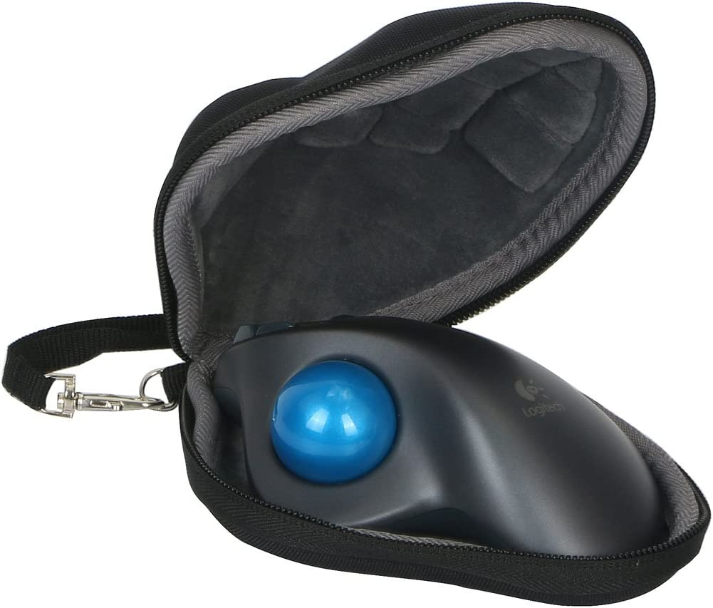 Hard Travel Case for Logitech M570 Wireless Trackball Computer Wireless Mouse by co2CREA
