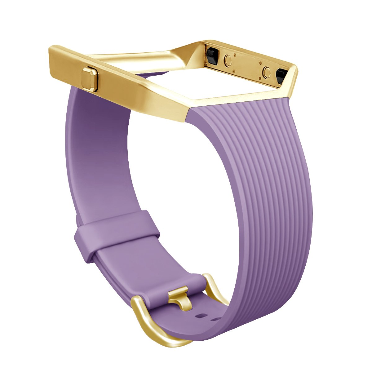GHIJKL for Fitbit Blazeスリムバンド、Tpu交換用スポーツストラップwith Frame for Fitbit Blaze Smart Fitness Watch, Large Small Violet with Gold Frame Violet with Gold Frame B076RNXK4N