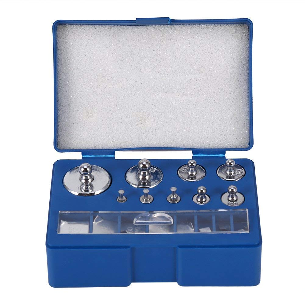 Precision Calibration Weight 1g 2g 5g 10g 20g 50g 100g Scale Balance Weight Calibration Jewelry Scale Weight Set Tweezer 0.1g 0.2g 0.5g 0.1g 0.2g Steel Calibration Weight Kit