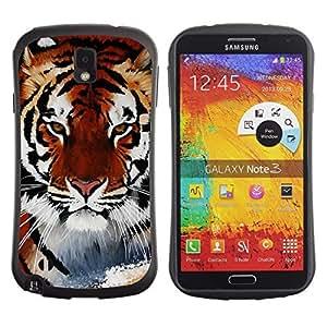 Hybrid Anti-Shock Bumper Case for Samsung Galaxy Note 3 / Cool Snow Tiger