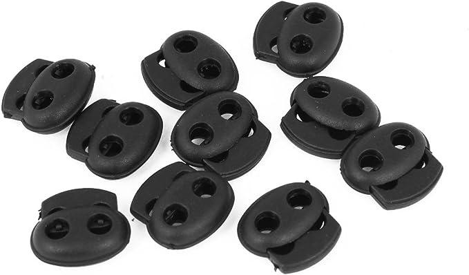 Kordelklemme 1 St/ück 2-Loch//Doppel-Kordelstopper f/ür 2-4mm Kordel BATMAN