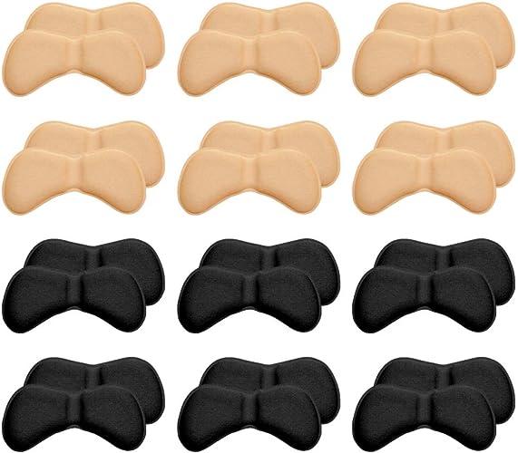 [Amteker] 靴擦れ防止 かかとパッド 靴かかと滑り止め 靴 サイズ調整 くつずれ防止パッド メンズレディース サンダル スニーカー 踵 革靴 かかとジェルパッド 男女兼用(12足 セット)