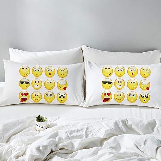 YHEGV Expression Home Textiles Funda de Almohada de Lino ...