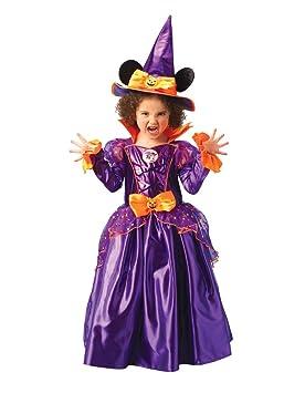 Disney - Disfraz de Minnie Mouse Bruja con sombrero para niña, infantil 5-6 años (Rubies 883693-M)