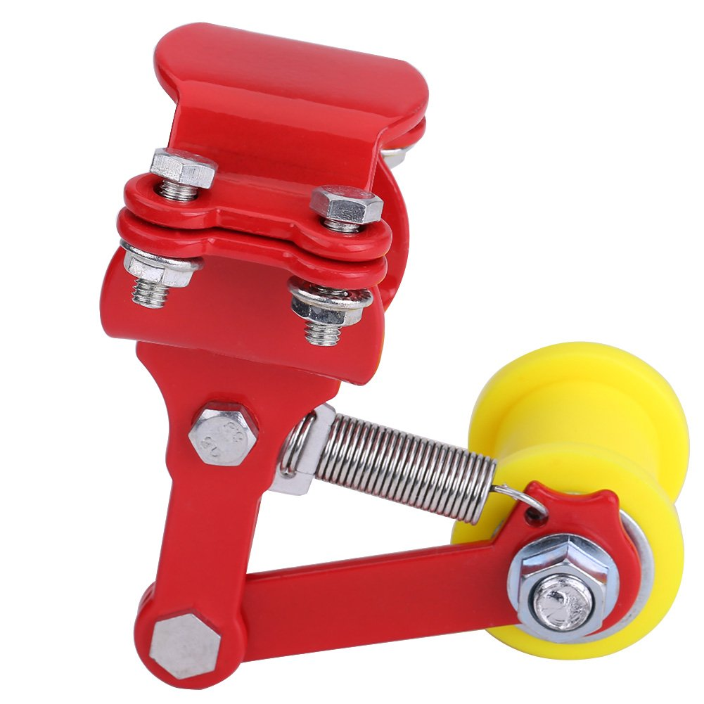 Chain Tensioner 100% Brand New High Quality Motorcycle Chain Tensioner Chain Adjuster Tensioner Motorcycle Chain Tension Universal Fit Most Motorcycle(Red) Keenso