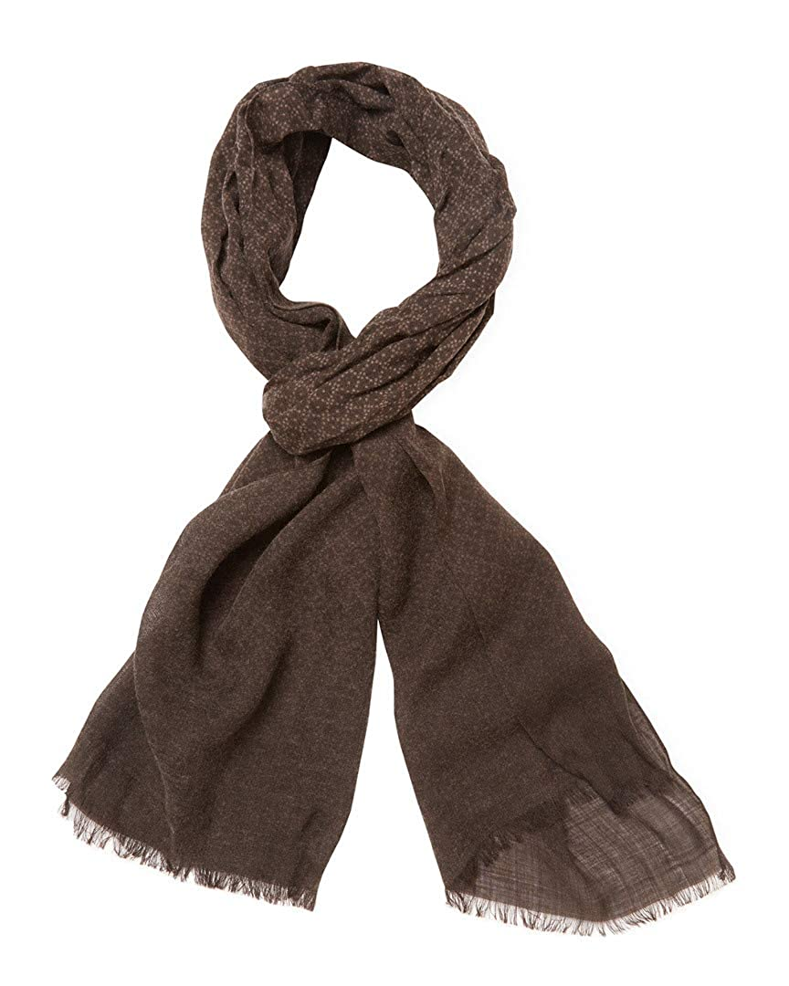John Varvatos Mens Collection Printed Heather Wool Scarf v941s3-beco
