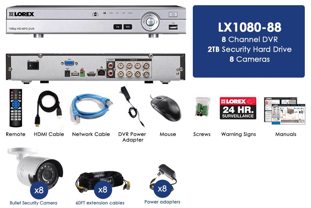 Amazon.com : Lorex 8 Channel Security Dvr System 2tb Hard Drive and ...