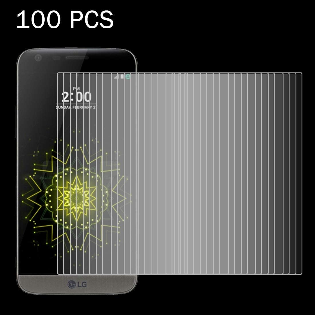 ZYS Screen Protector 100 PCS for LG G5 0.26mm 9H Surface Hardness 2.5D Explosion-Proof Tempered Glass Screen Film