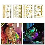 Tattify Metallic Glow In the Dark Temporary Tattoos, Be Bright, Set of 4