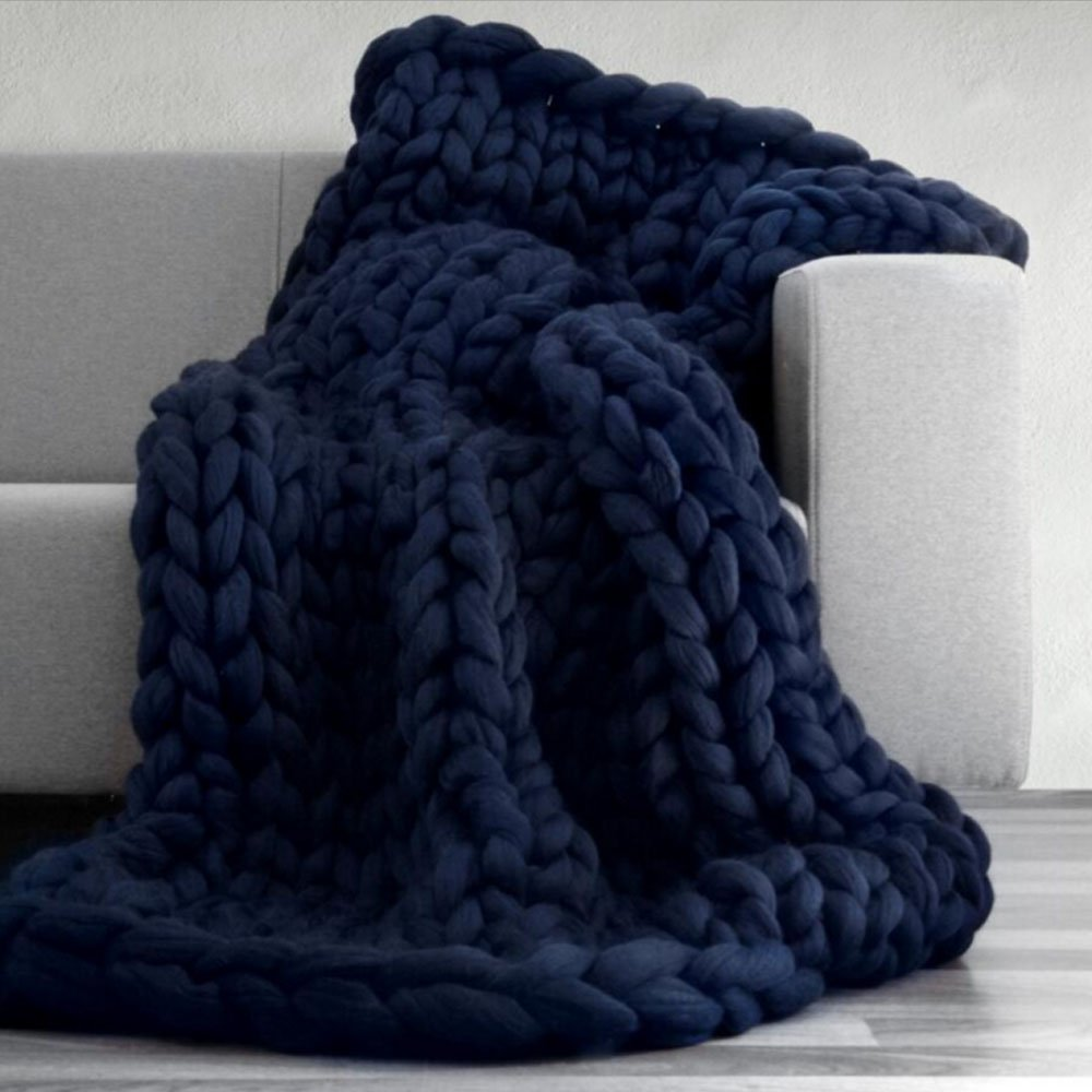 Chunky Knit Blanket,Cable Knit Throw,Chunky Knit Throw Arm Knit Blanket,Giant Knit Blanket,Merino Wool Throw Blanket,Queen King Bedspread,Gift Idea 47''x59''