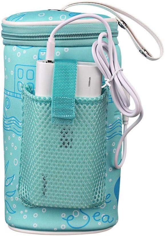 Baby Milk Bottle Thermostat Bag Portable USB Heating Intelligent Warm Milk Tool Insulation Cover
