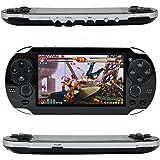 QUMOX Console per videogiochi retroilluminata, Leezo 1PC Ricaricabile console per videogiochi da 8,3 pollici 8 GB Giochi gratuiti per 100 giocatori MP4 MP5