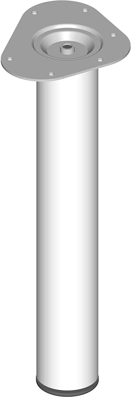 11102-00001 4 Farben 6 Abmessungen Element System 4 St/ück Stahlrohrf/ü/ße rund L/änge 20 cm Tischbeine M/öbelf/ü/ße inklusive Anschraubplatte Durchmesser 60 mm wei/ß