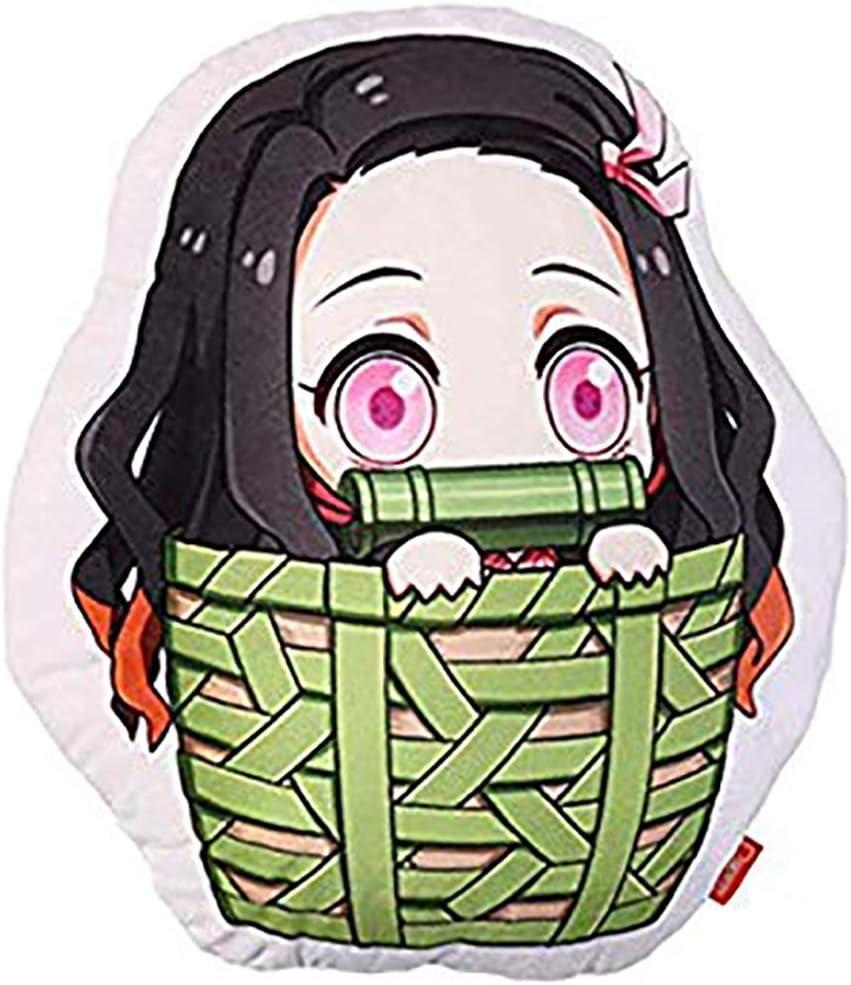 RuHan Anime Demon Slayer Mignon Figure Coussin Kimetsu No Yaiba Coussin en Farci Poup/ée en Peluche Peluches D/écoration Coussin pour La Maison Canap/é Chambre Voiture