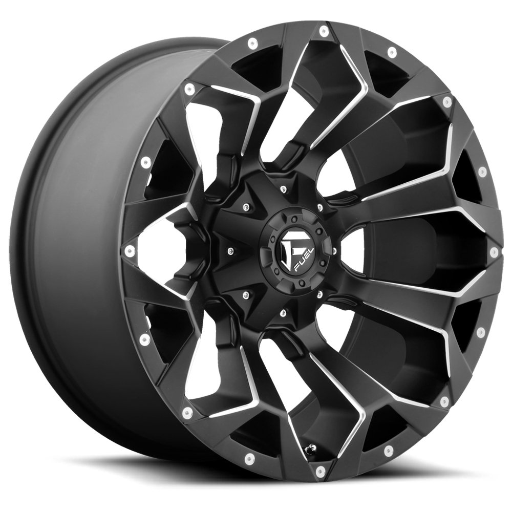 FUEL Assault NB 22 x 10. inches //6 x 135 mm, -18 mm Offset BLK MIL Wheel with Painted