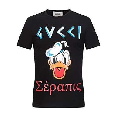 976058a858e3 ECTIC Homme Men s 3D print Donald Duck Fashion T-Shirts Tee Size M-XXXL