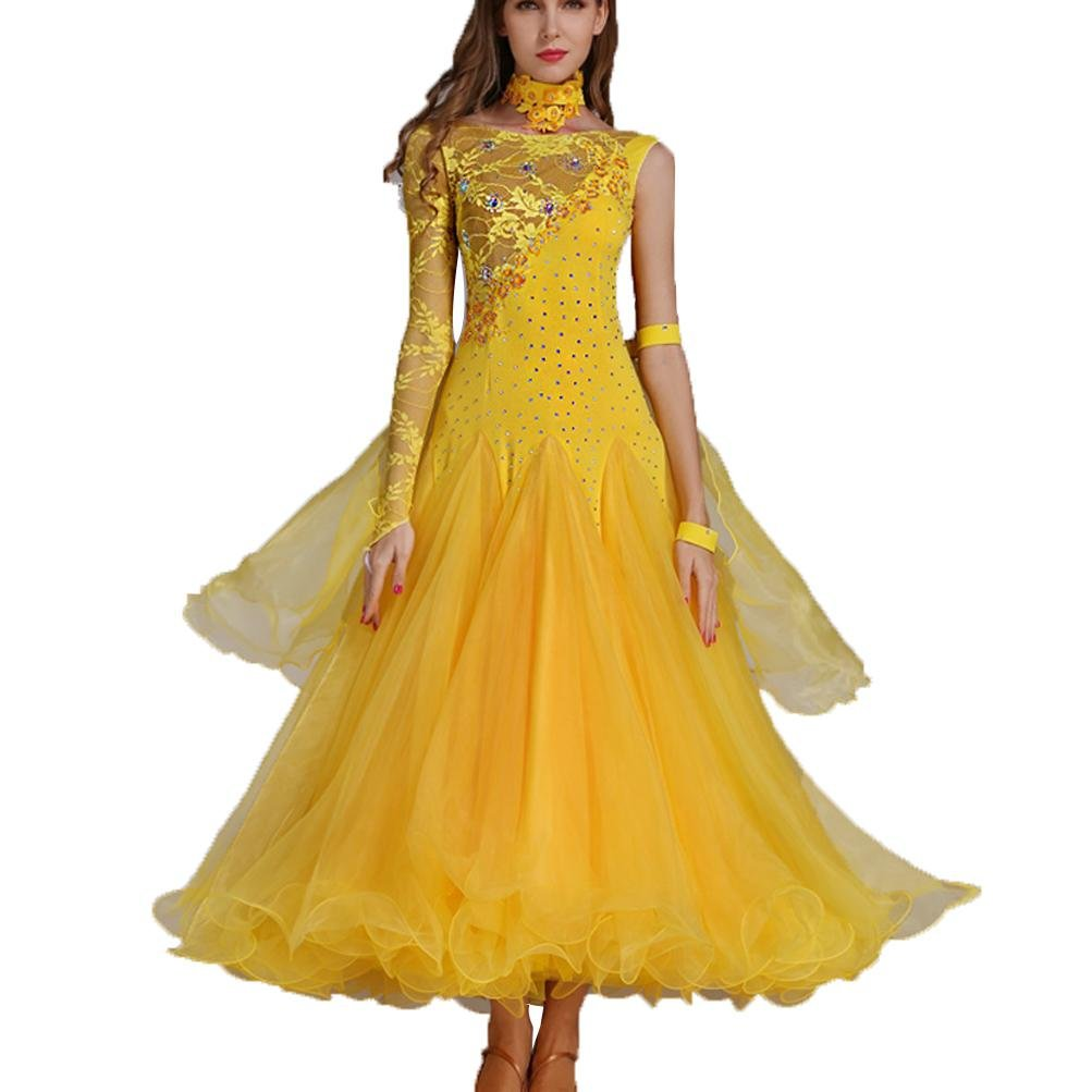 MoLiYanZi Mädchen Walzer Tanzen Outfit Outfit Outfit Wettbewerb Kleider Schnüren Performance Kostüm Frauen Moderne Tanzabnutzung B079FYBCGM Bekleidung Kaufen 4f4c5c