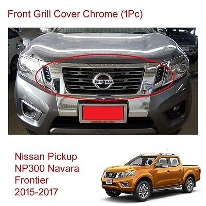 Amazon.com  Powerwarauto Chrome Front Grill Grille Cover for Nissan Np300  Navara D23 Medium Chrome Medium Chrome  Automotive f344a65759e58