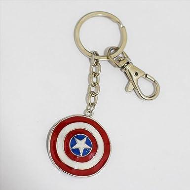 Captain America Shield clave Cadena Super Hero Llavero ...