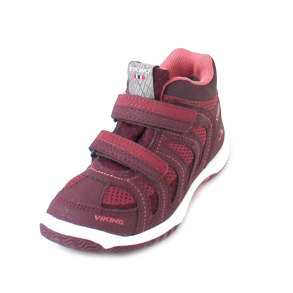 Rouge (Wine Coral 4151) Viking Cascade II Mid GTX, Chaussures de Cross Mixte Enfant 34 EU