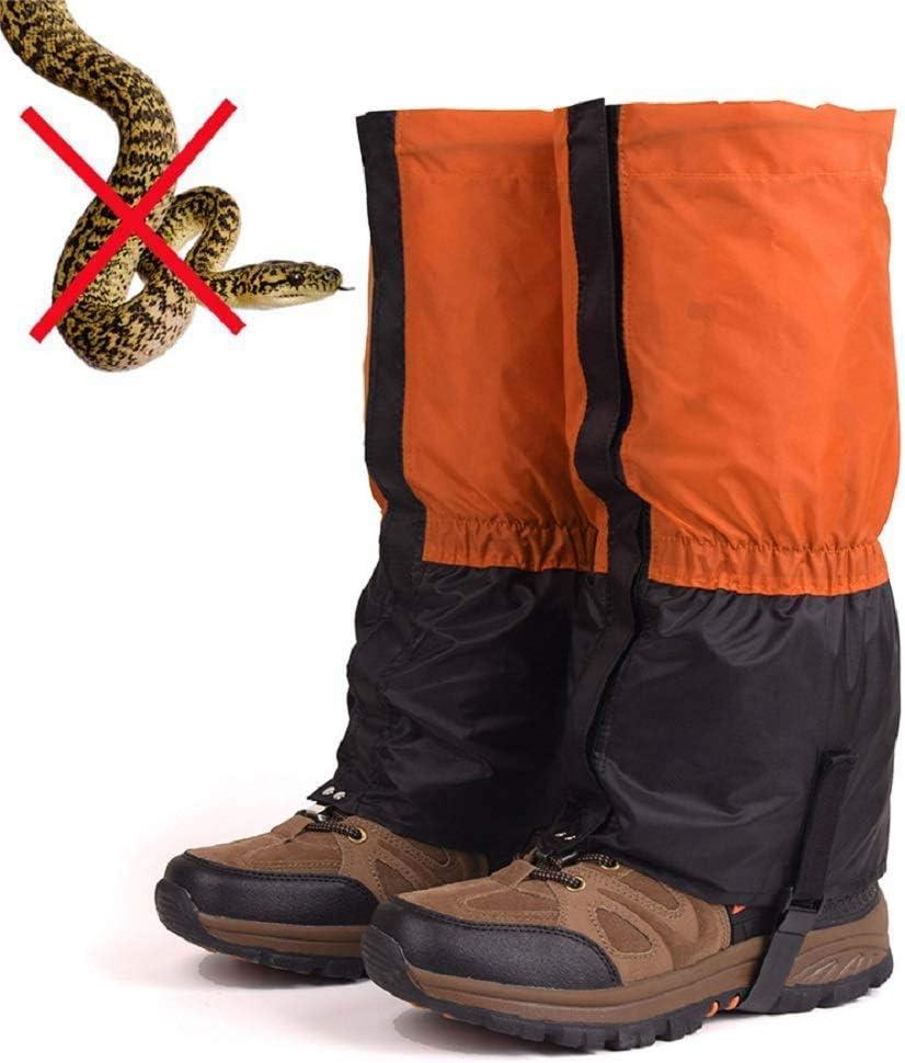 Leg Gaiters Waterproof f/ür M/änner und Frauen Klettern Anti-Tear Snow Boot Gaiters Atmungsaktive Schuhgamaschen f/ür Outdoor-Wandern Jagd YFGlgy Snake Guards