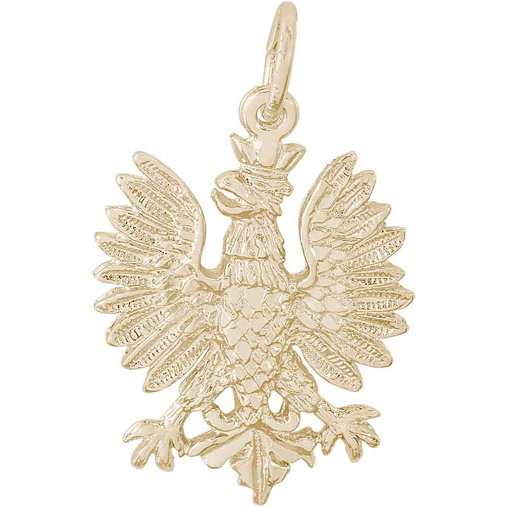 Rembrandt Charms Phoenix Charm, Gold Plated Silver