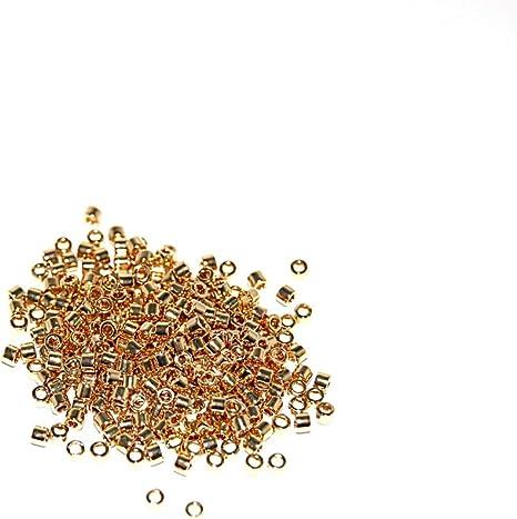 Japanese Cylinder Bead 24KT Light Gold Plated apx 7 gram tube Delica 110 Miyuki DB034