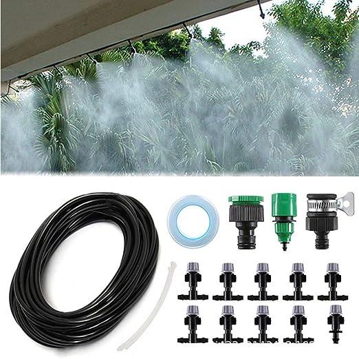 Yardwe Sistema de riego de jardín Sistema de riego por Goteo para riego automático por Goteo - Tubos de riego de 32 pies con Mister Nozzle de 10 PCS para jardín: Amazon.es: Jardín